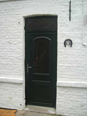 pose de porte verte style classique londres