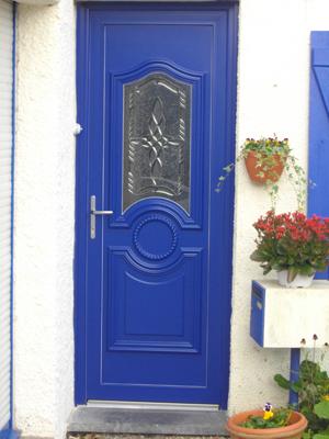 porte bleue classique