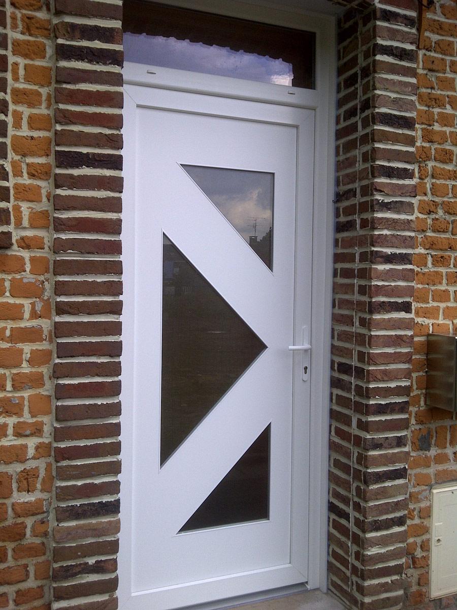 porte blanche vitree