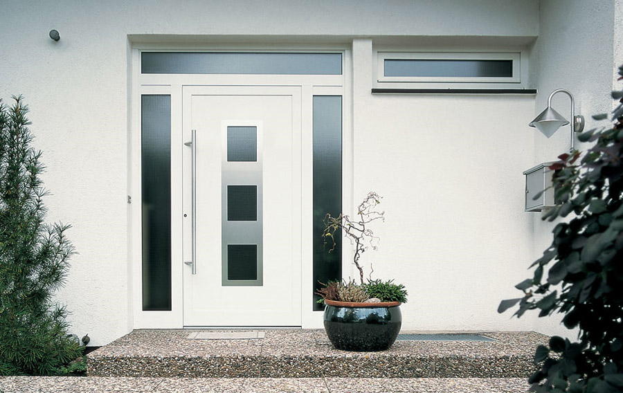 porte moderne blanche