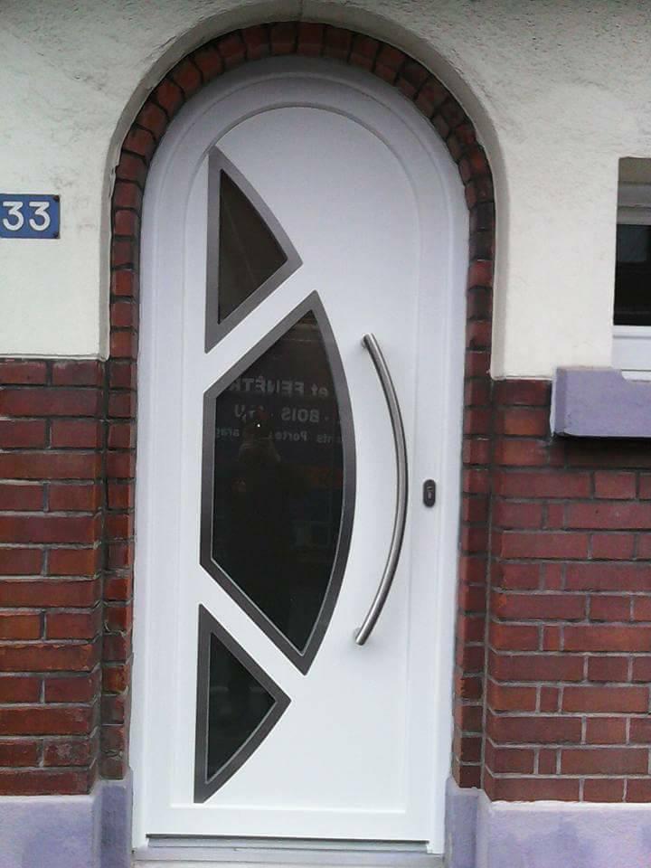 porte blanche pvc