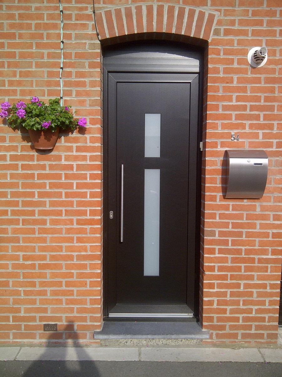 porte d'entrée de couleur sombre