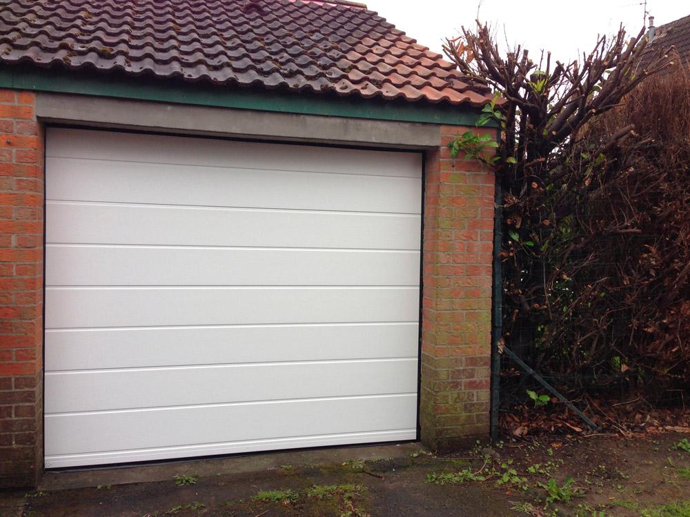 garage en hiver