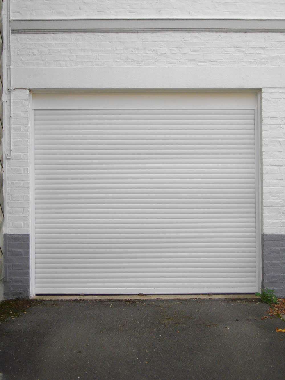 porte de garage blanc