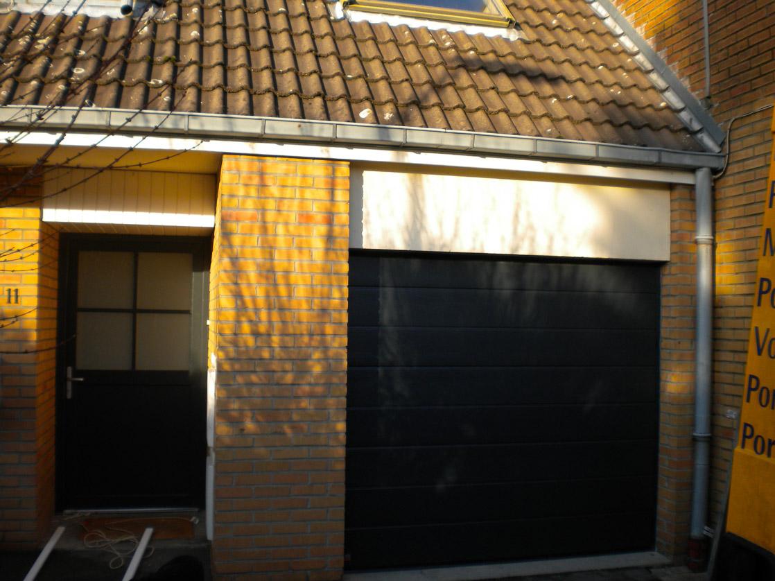 garage noir pvc