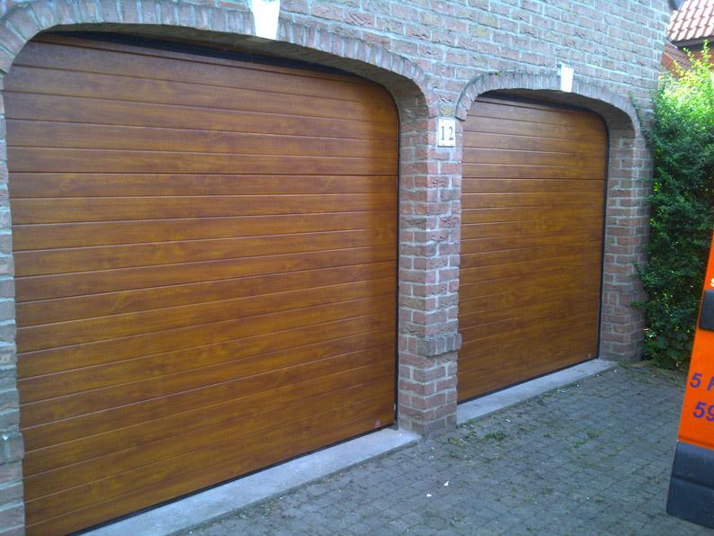 garage pour deux voitures en bois