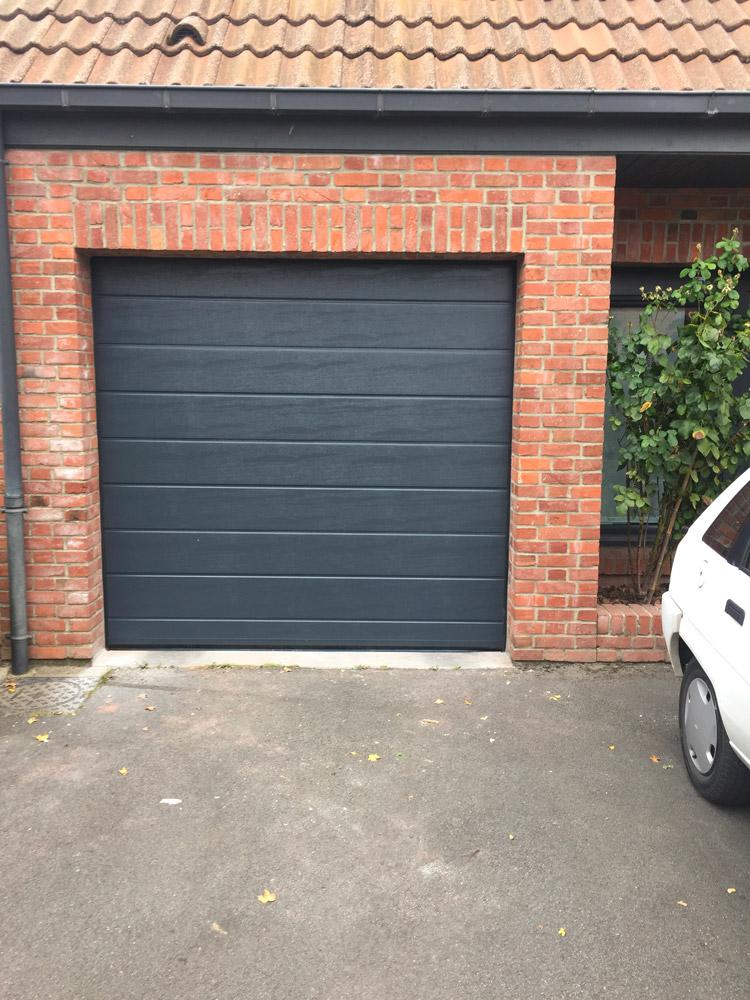 nouvelle porte de garage posée